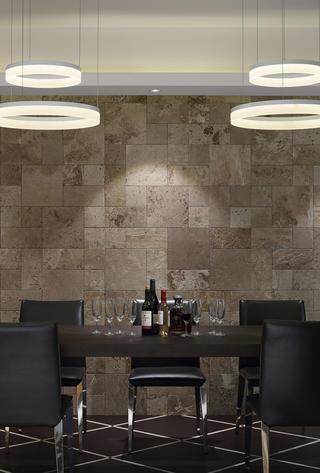 现代简约别墅餐厅背景墙设计