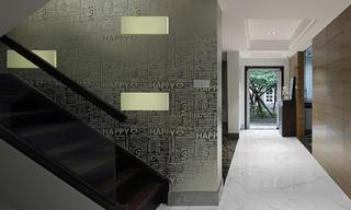 现代简约别墅玄关走廊