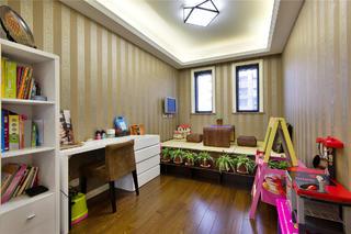 新古典三居装修书房布置图