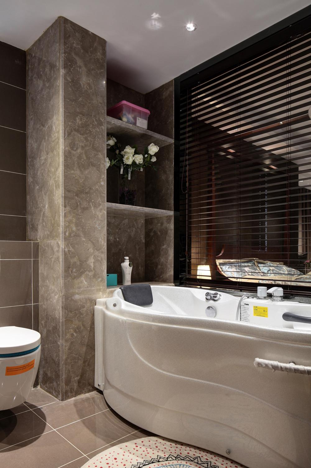 新中式别墅装修浴缸图片