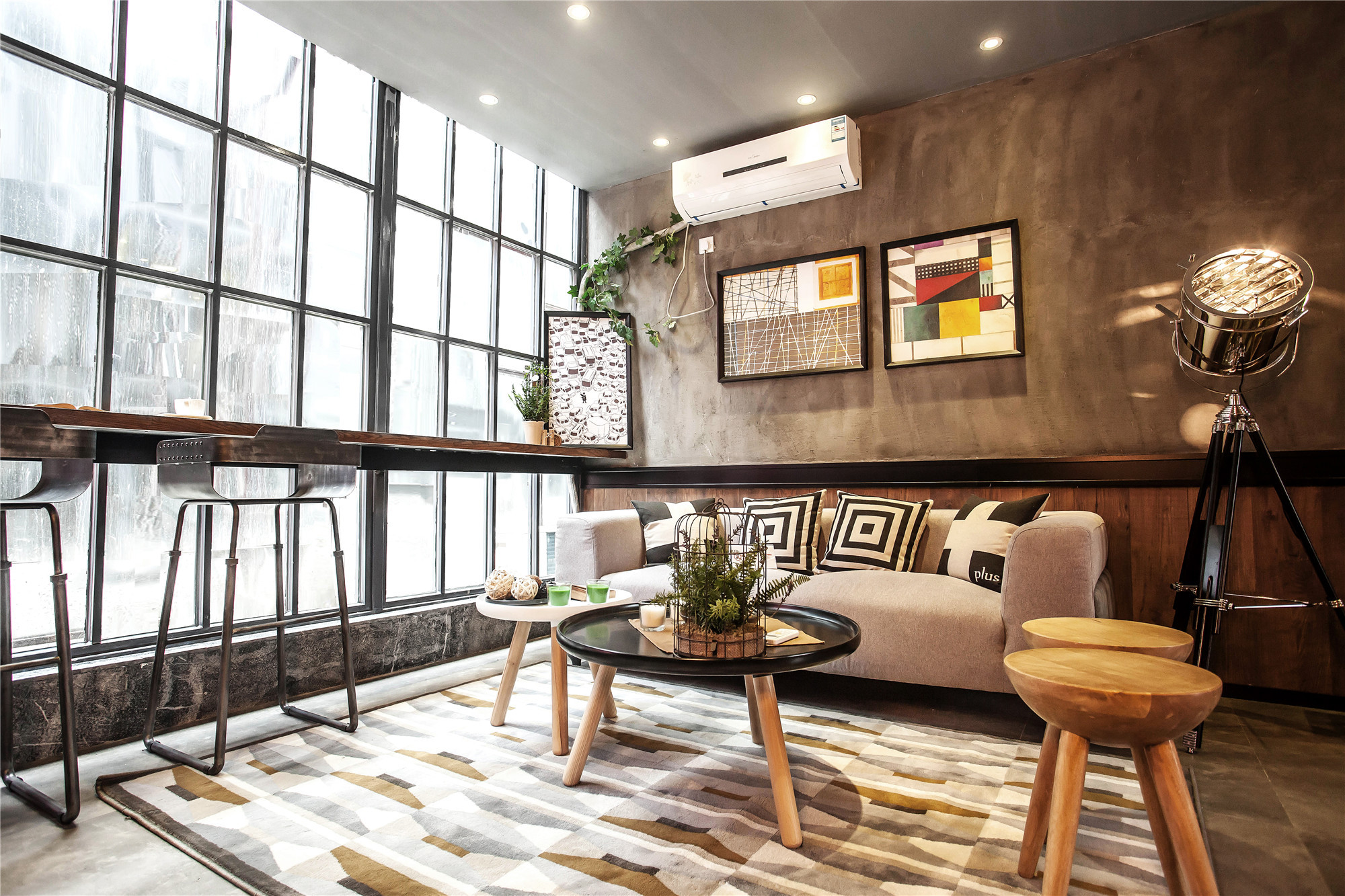 Loft混搭风公寓装修客厅设计图