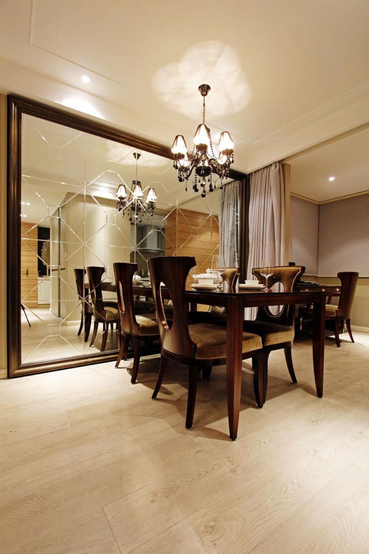 110平现代风格二居餐厅效果图