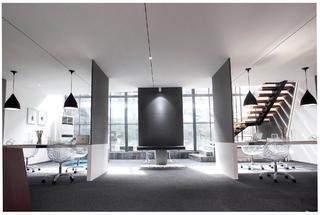 时尚简洁办公间装修整体效果图