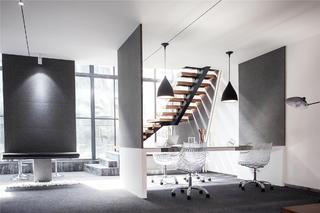 时尚简洁办公间装修工作区设计图