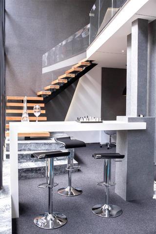 时尚简洁办公间装修吧台设计
