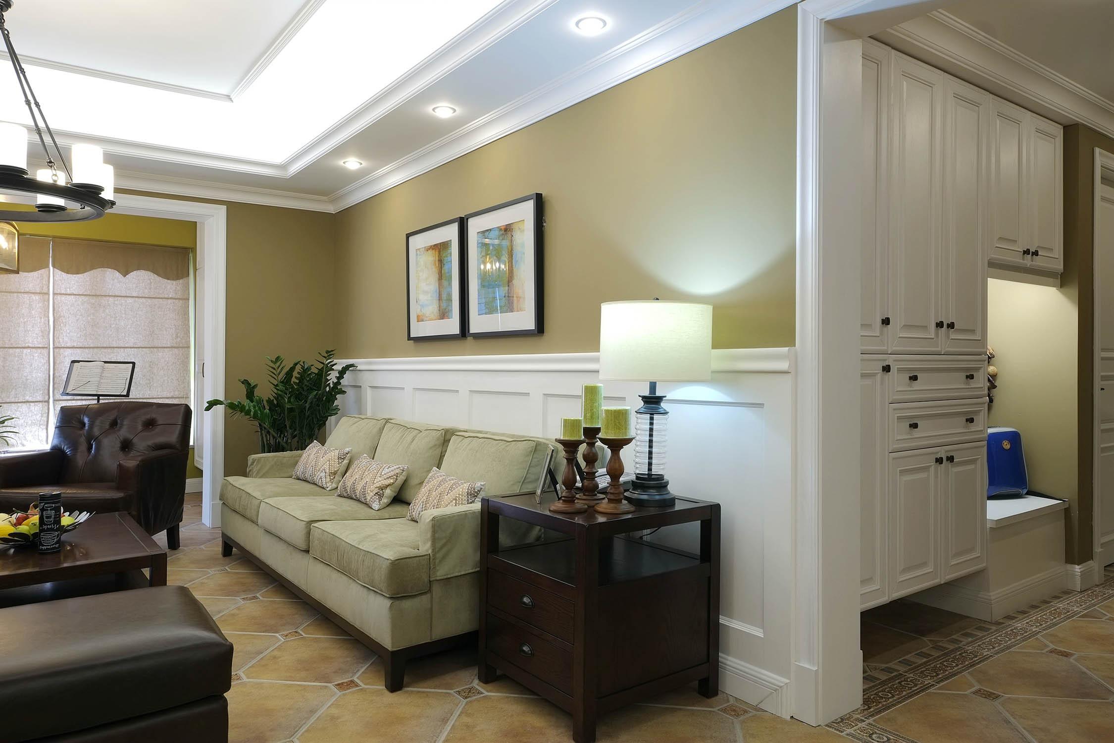 大户型美式装修客厅一角