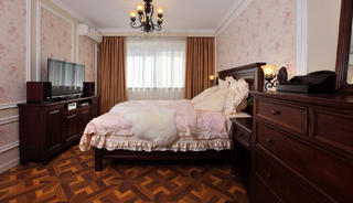120平美式风装修卧室搭配图