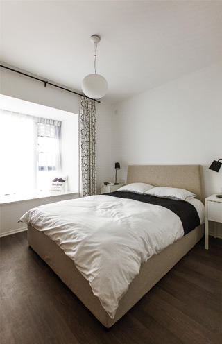 北欧风公寓装修卧室布置图