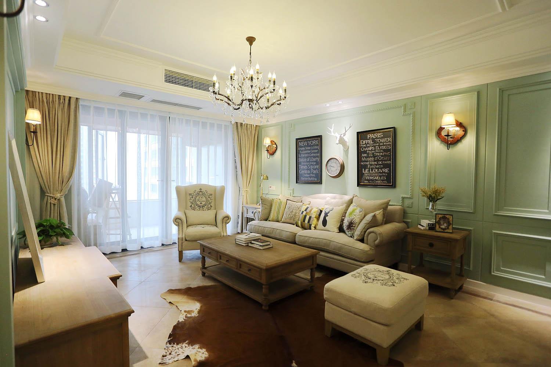 140平三居室装修沙发图片