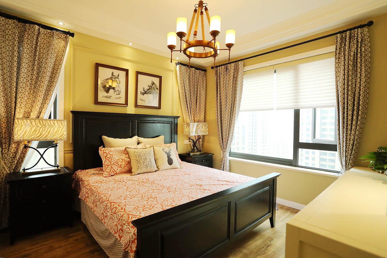 140平三居室装修主卧设计图