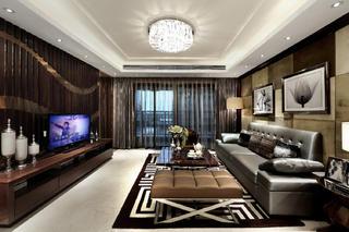 现代豪华风二居装修客厅效果图
