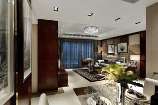 现代豪华风二居装修客厅吊顶设计