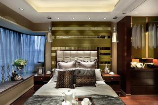 现代豪华风二居装修卧室效果图