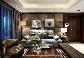 现代豪华风二居装修沙发背景墙图片