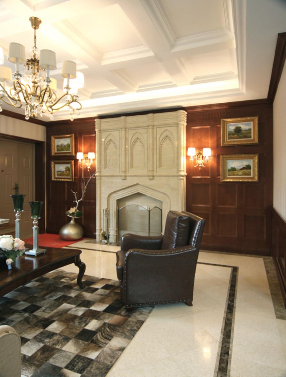 英式风格别墅装修壁炉设计