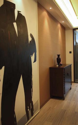 混搭风格二居室装修背景墙图片