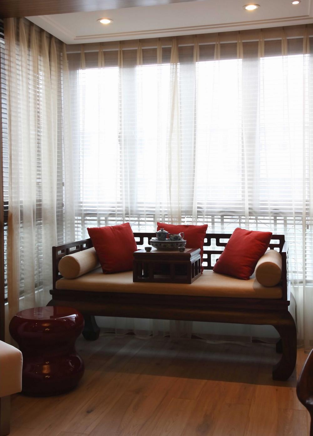 混搭风格二居室装修阳台休息区