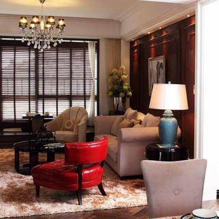 80平时尚奢华二居装修设计图