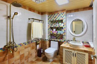 125平美式乡村家卫生间装潢图