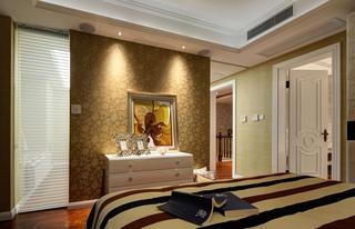现代简约三居卧室背景墙图片