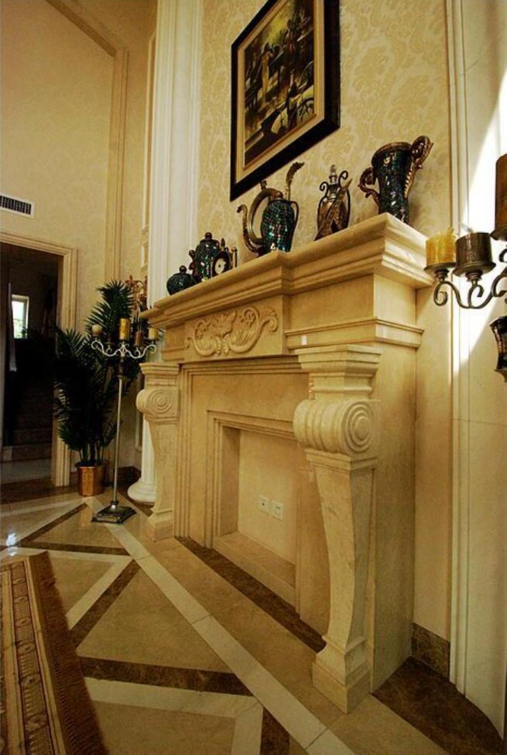欧式别墅装修造型壁炉设计