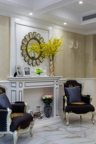 新古典欧式别墅装修造型壁炉图片
