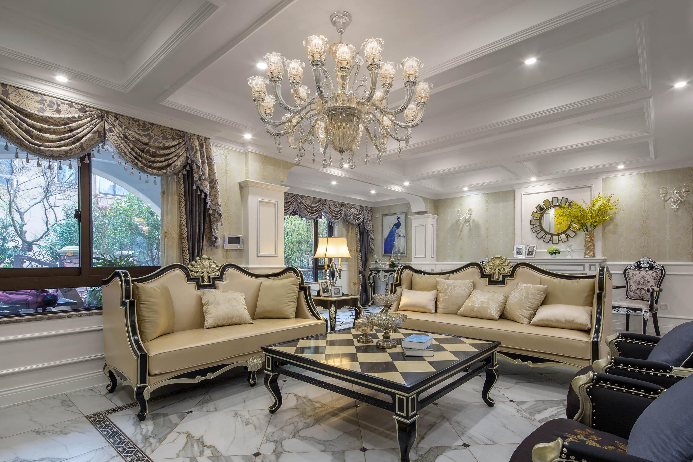 新古典欧式别墅装修客厅效果图