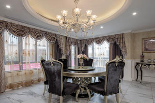 新古典欧式别墅装修餐厅布置图