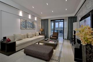 现代中式风格三居沙发背景墙图片