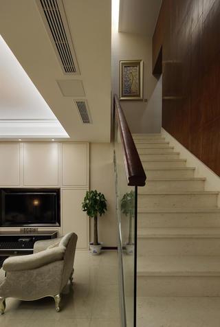新中式风格复式装修楼梯图片