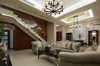 新中式风格复式装修沙发图片