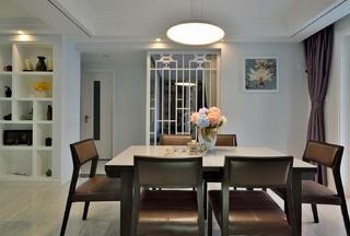 140平三居室装修木作隔断设计