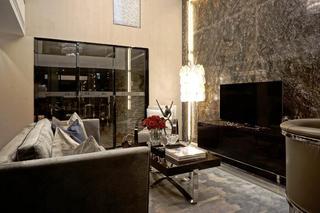 现代复式装修电视背景墙设计