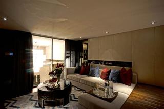 现代复式装修沙发图片