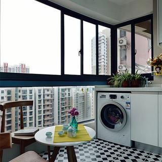 90平北欧风格家阳台布置图