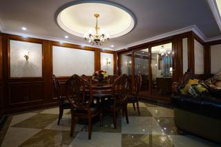 复式美式四房装修餐厅布置图