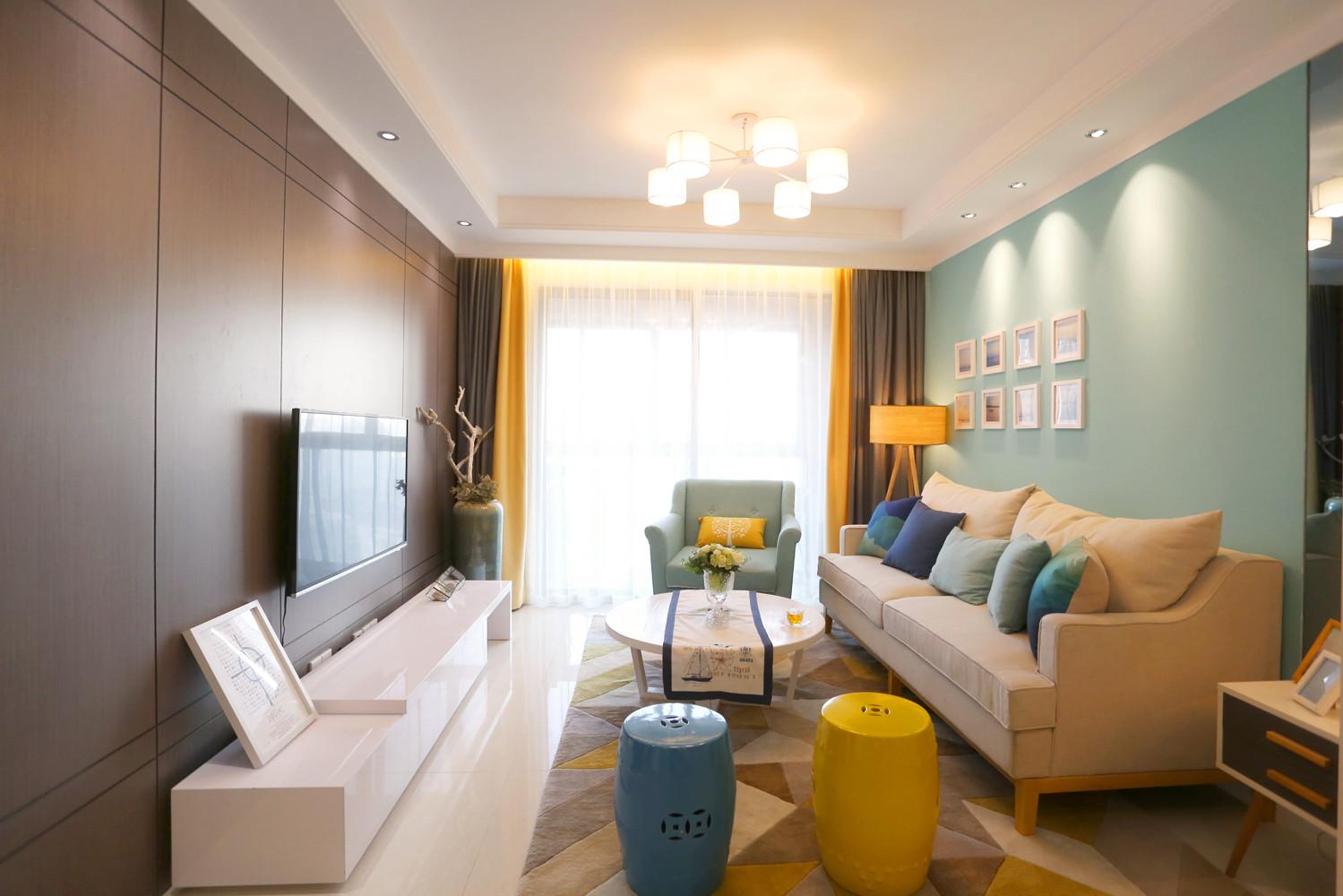 宜家风格二居装修客厅搭配图