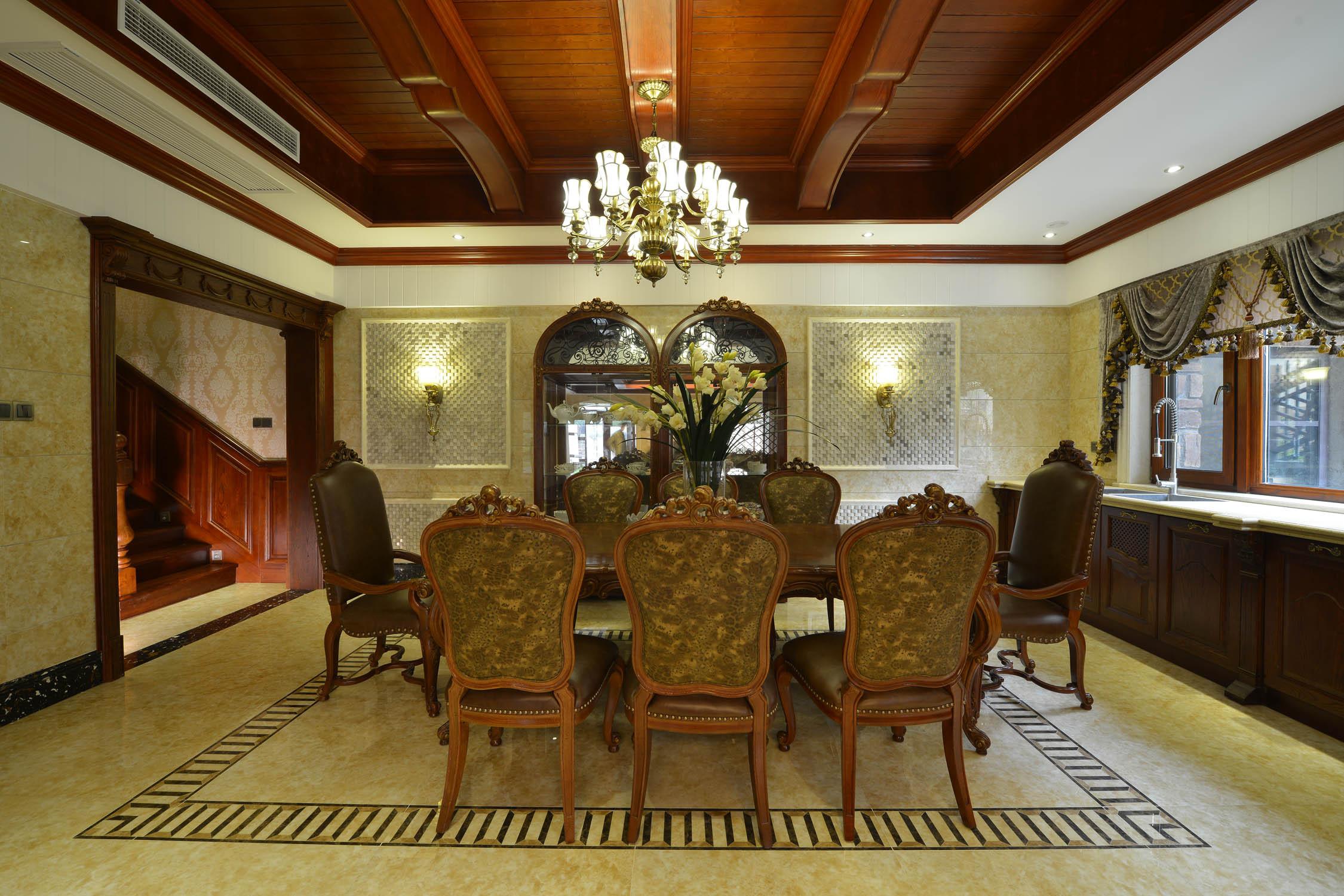 美式风格别墅装修餐厅装潢图