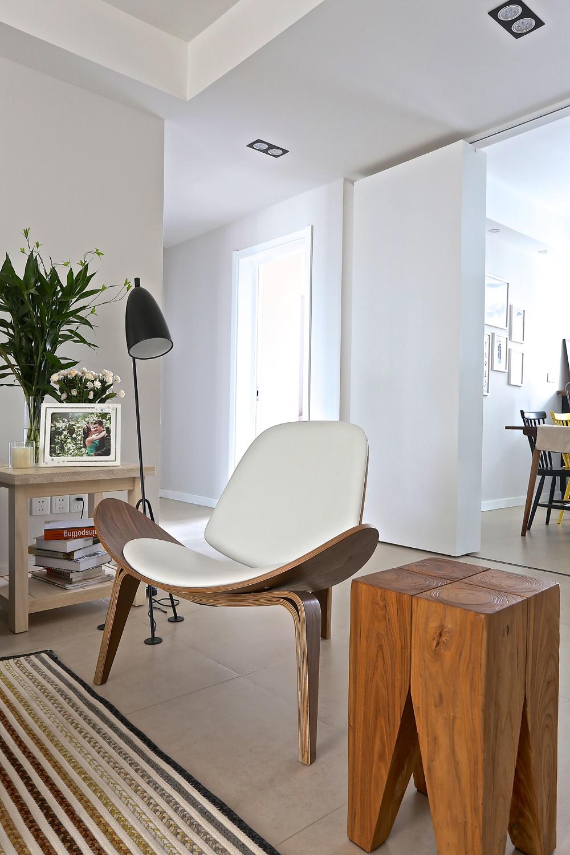 100平北欧装修贝壳椅设计