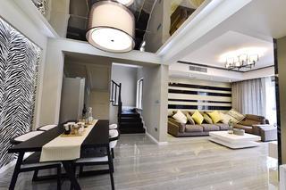 120平三居室装修餐桌图片