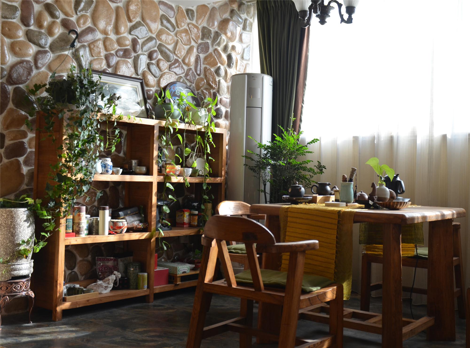 中式田园风格家茶室布置图