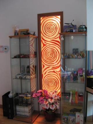 现代中式风格二居装修展示柜设计