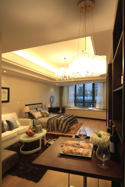 酒店式公寓装修客卧室一体设计