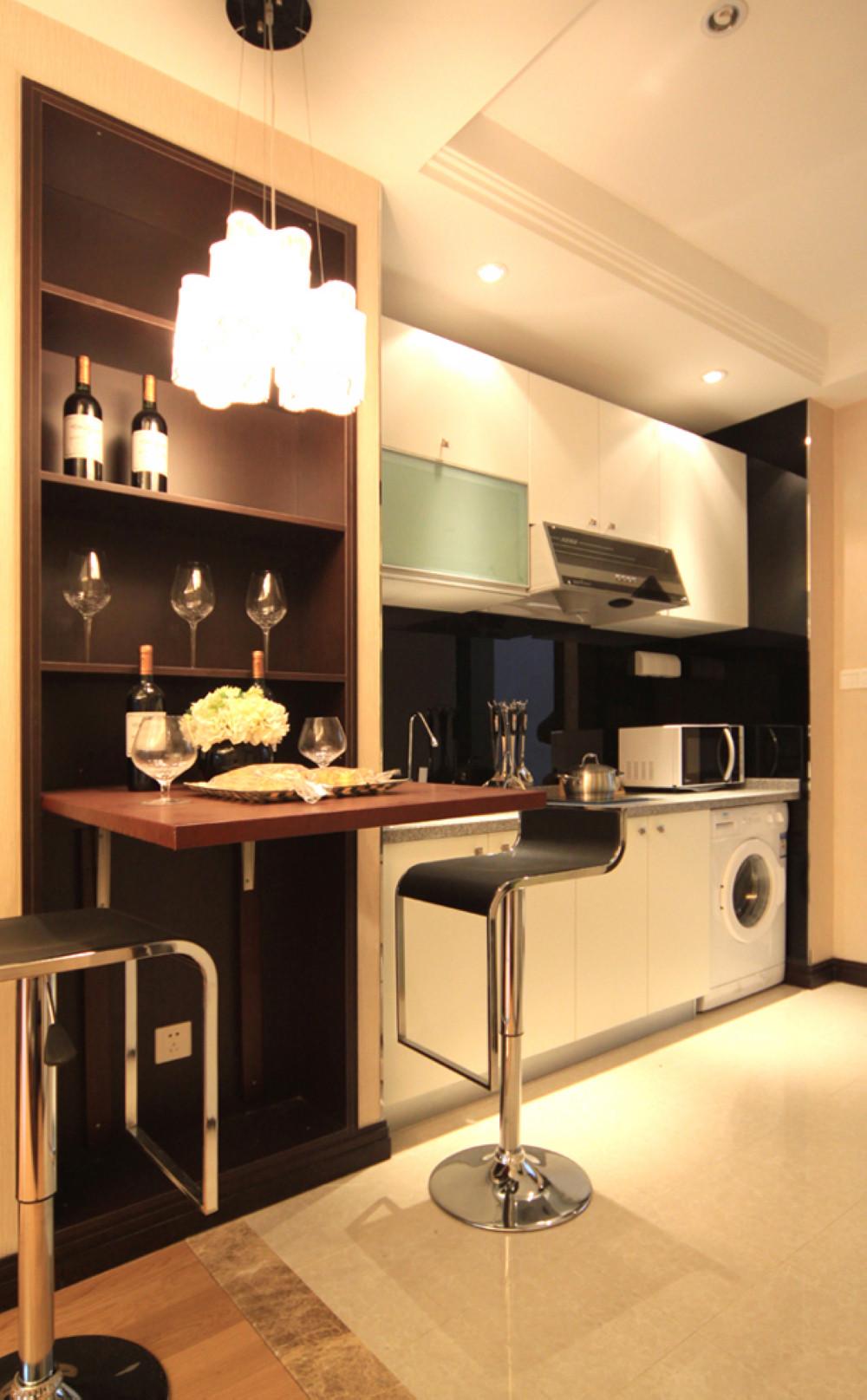 酒店式公寓装修厨餐厅一体设计