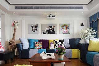 混搭别墅装修沙发背景墙设计