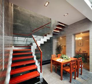 中式别墅装修楼梯设计