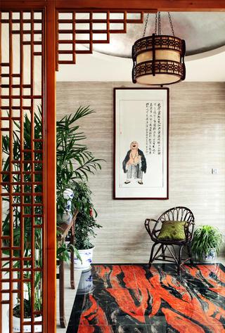中式别墅装修玄关设计