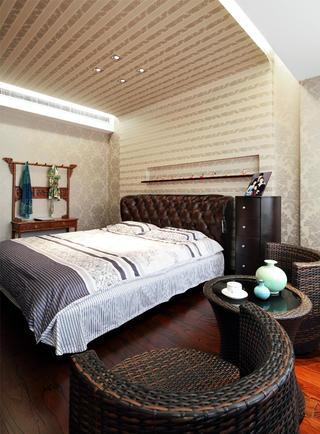 中式别墅装修卧室布置图