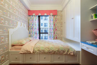 135平美式风格家窗帘图片