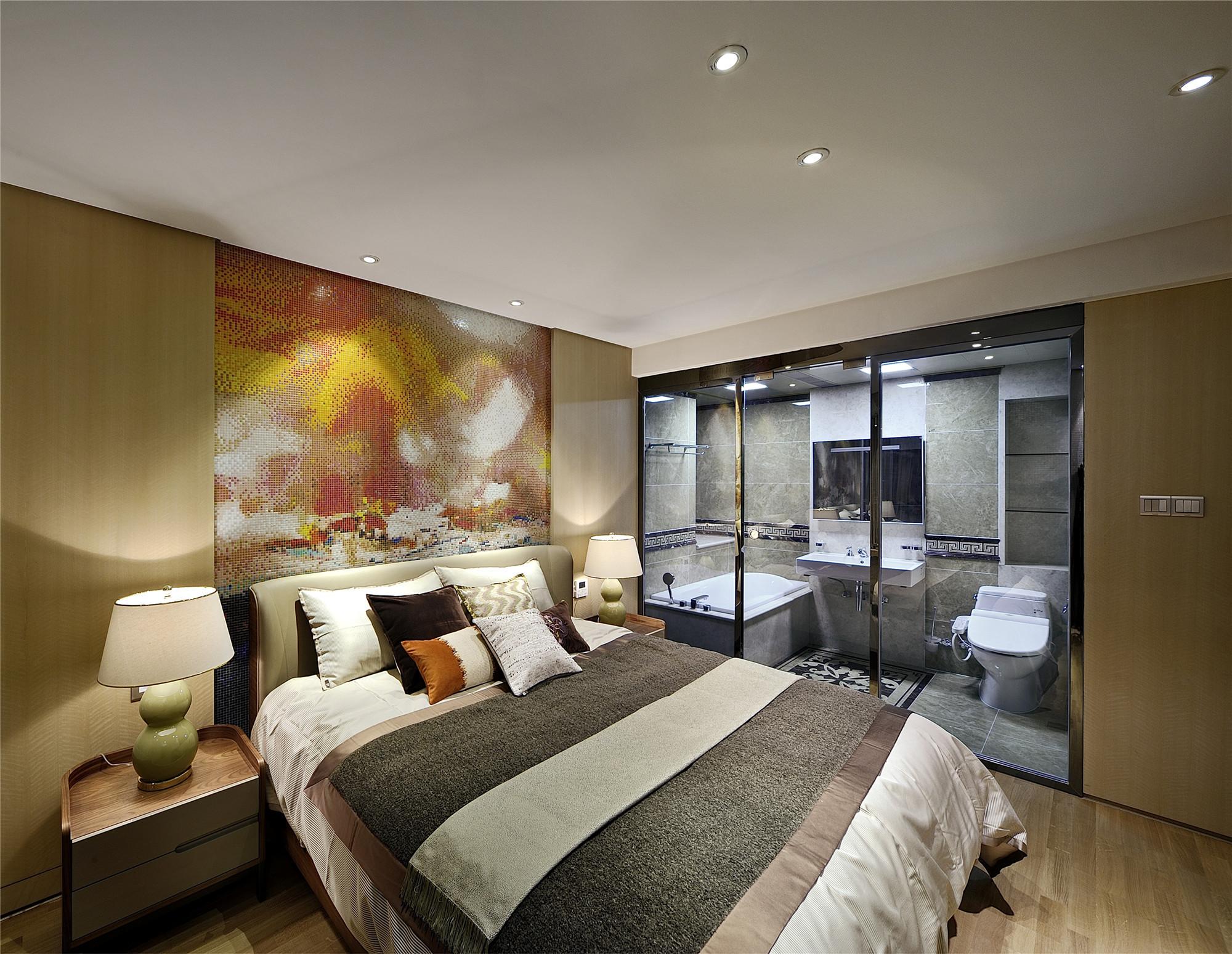 大户型现代简约家卧室布置图